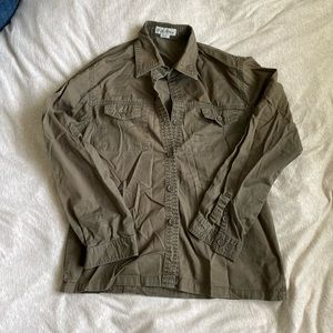 Tops - Olive button up